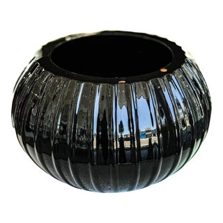 Murano Alberto Dona Black Piccolo Bowl For Sale