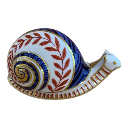 Royal Crown Derby Snail Paperweight For Sale