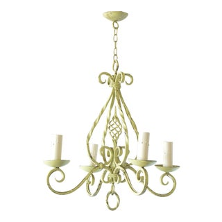 Bright Green Chandelier For Sale