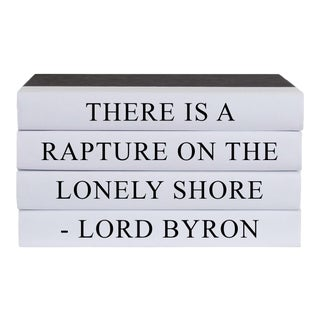 Lonely Shore Quote Book Stack - 4 Pieces For Sale
