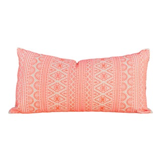 Sierra Tenejapa Silk Embroidered Lumbar Pillow For Sale
