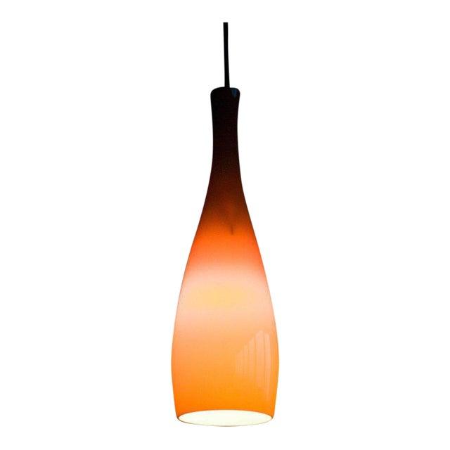 Danish 1960s Jacob Bang Glass Pendant For Sale