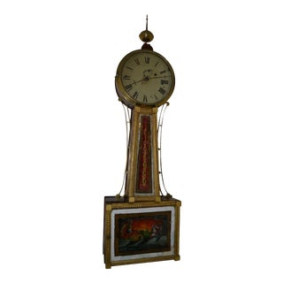 American Banjo Clock, Ca. 1810-30 For Sale