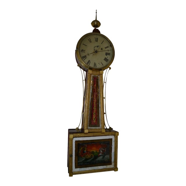 American Banjo Clock, Ca. 1810-30 For Sale