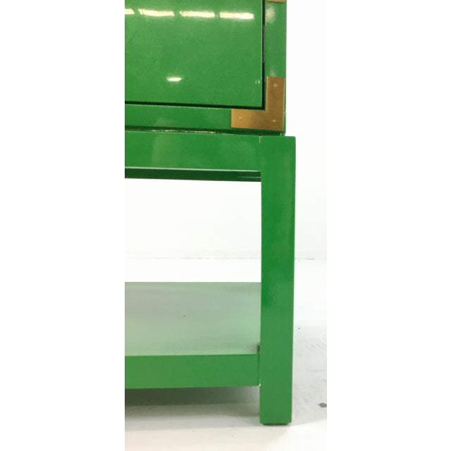 Brass Bungalow 5 Green Lacquer Tansu Console Chest For Sale - Image 7 of 8