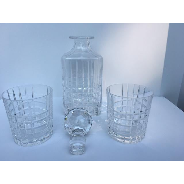 Tiffany and Co. Tiffany & Co. Plaid Decanter & Old Fashion Glasses - Set of 3 For Sale - Image 4 of 8