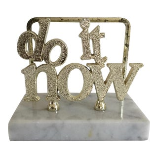 "1970s Vintage Italian ""Do It Now"" Letter Sorter Desk Accessory"