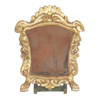 Carved and Gilt Frame with Easel For Sale
