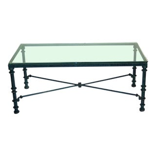 Diego Giacometti Style Iron Coffee Table For Sale