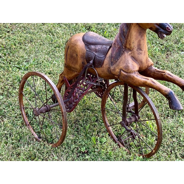 Folk Art Child's Bicycle in the Shape of a Horse For Sale In Philadelphia - Image 6 of 10