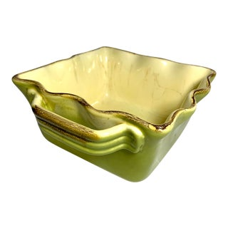 Late 20th Century Vintage Avocado Serving Bowl For Sale