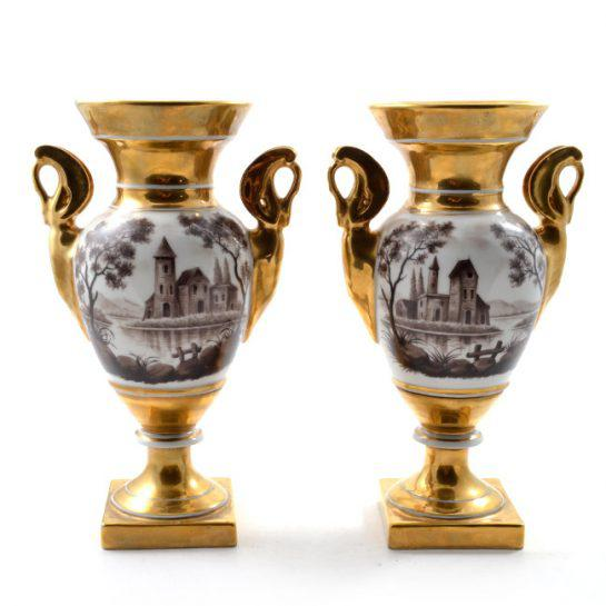 19th Century Antique French Porcelain Vases-a Pair For Sale - Image 13 of 13