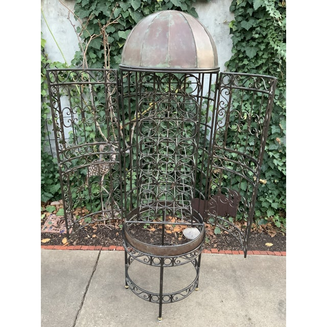 Maitland-Smith Copper Domed and Iron Wine Rack For Sale - Image 12 of 12