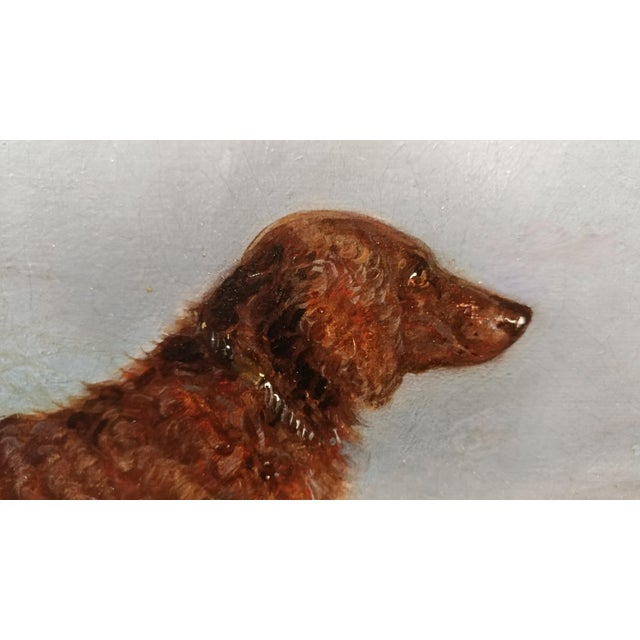 1853 Charles Bilger Spalding Irish Setter Original Oil Painting For Sale - Image 5 of 10
