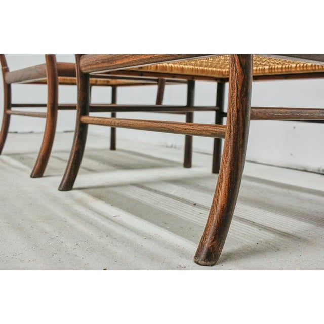 Rosewood Ole Wanscher Colonial Chairs, P. Jeppesens Møbelfabrik, Denmark, 1960s For Sale - Image 11 of 13