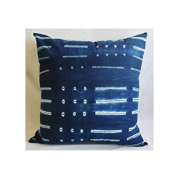 "Bohemian Chic Jumbo 32"" Black & White Tribal Pillow/ Floor Cushion For Sale - Image 5 of 7"
