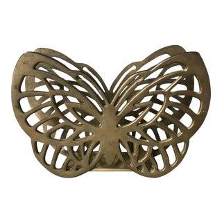 Vintage Brass Butterfly Mail File Holder For Sale