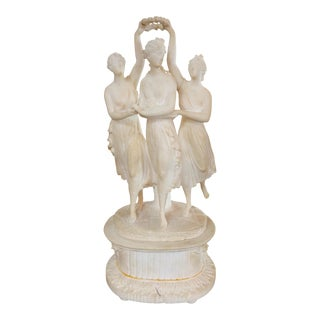 19th Century French Statue of 3 Graces For Sale