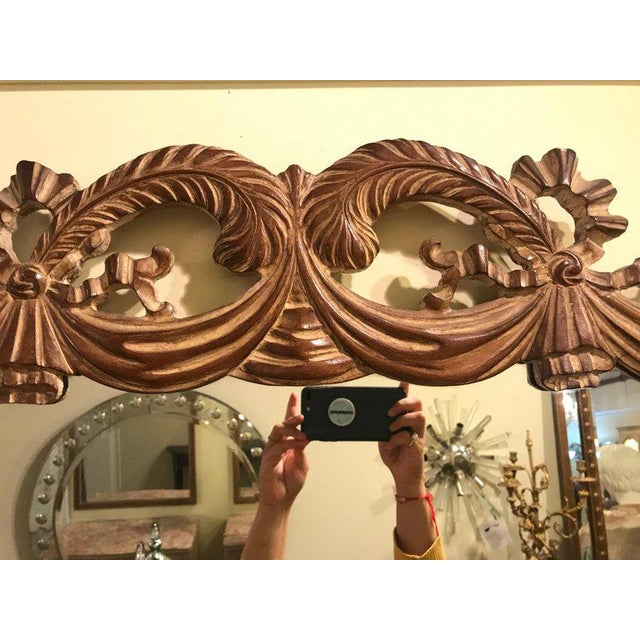 Gold Compatible Hollywood Regency Grosfed House Ribbon and Tassle Form Mirrors, Pair For Sale - Image 8 of 13