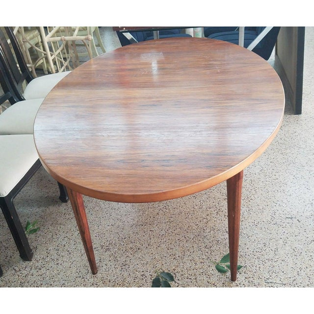 1960's Danish Mid-Century Modern Style Rosewood Dining Table For Sale - Image 10 of 12