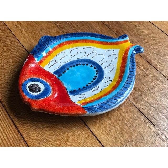 Giovanni Desimone Giovanni DeSimone Italian Fish Plate For Sale - Image 4 of 5