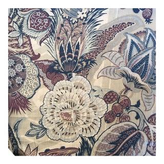 """Schumacher """"Zanzibar"""" Hyacinth Linen Fabric - 4 Yards For Sale"""