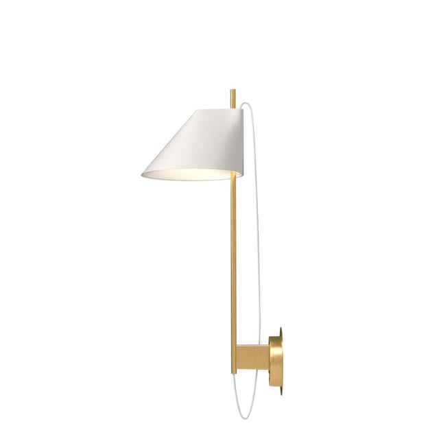 GamFratesi White and Brass 'Yuh' Wall Light for Louis Poulsen For Sale