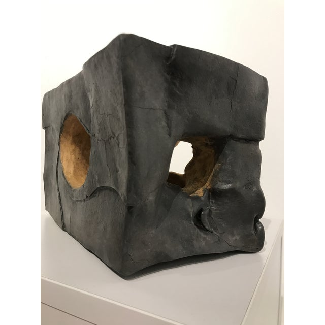 """Dark Gray """"Glow"""" Contemporary Ceramic Sculpture by Corinne Peterson For Sale - Image 8 of 9"""
