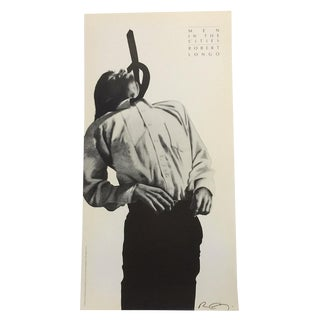 1991 Robert Longo Men in the Cities Signed Exhibition Poster Print For Sale