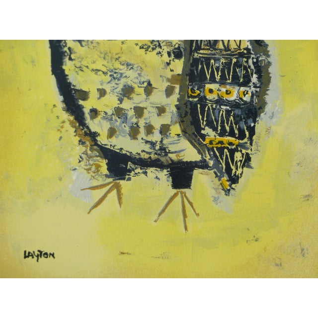 Mid-Century Owl Paintings - A Pair - Image 5 of 10