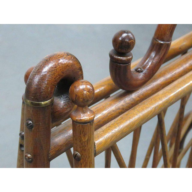 Victorian Oak Magazine Rack For Sale - Image 9 of 10