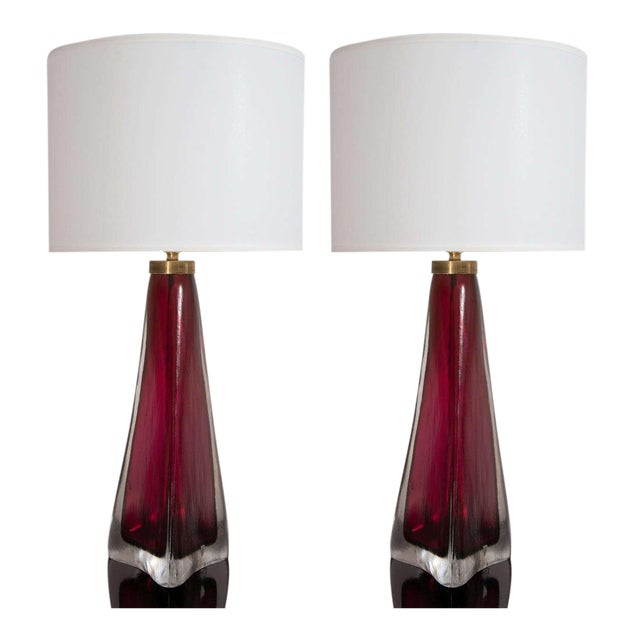 Pair of Orrefors Crystal Lamps For Sale - Image 9 of 9