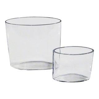 1960s Danish Modern Tapio Wirkkala Clear Vases - Set of 2