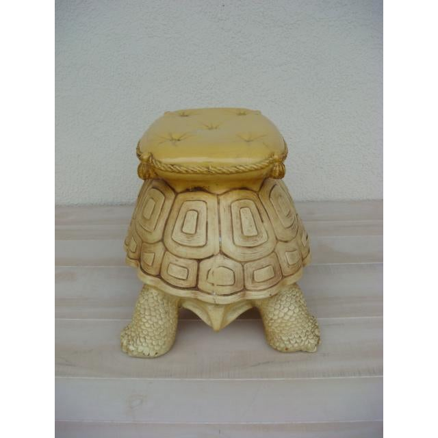 Mid-Century Turtle Form Garden Stool Bench Ottoman For Sale - Image 4 of 13