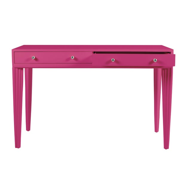 Contemporary Barcelona Desk - Bright Pink For Sale - Image 3 of 6