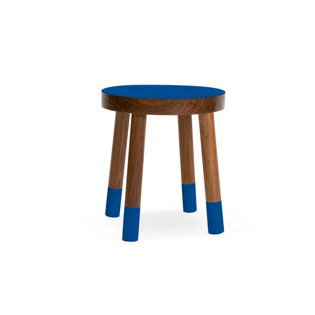 Nico & Yeye Poco Kids Chair in Walnut With Pacific Blue Finish For Sale - Image 4 of 4
