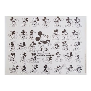 Mickey Mouse Model Sheet by Floyd Gottfredson, Disney Poster