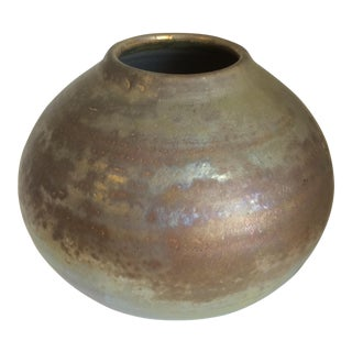 Metallic Glaze Studio Pottery Vase For Sale