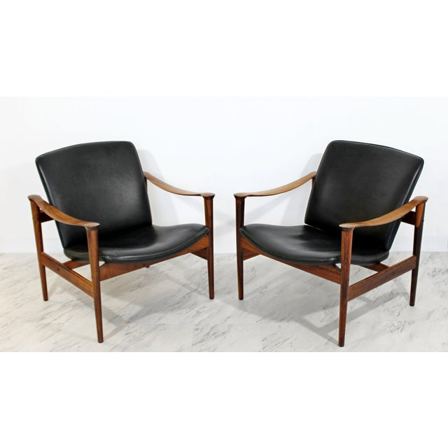 Mid Century Modern Pair Model 711 Easy Chairs Fredrik Kayser Vatne Mobler 1960s For Sale - Image 10 of 11