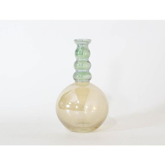 Glass Vintage Decorative Glass Vase For Sale - Image 7 of 7
