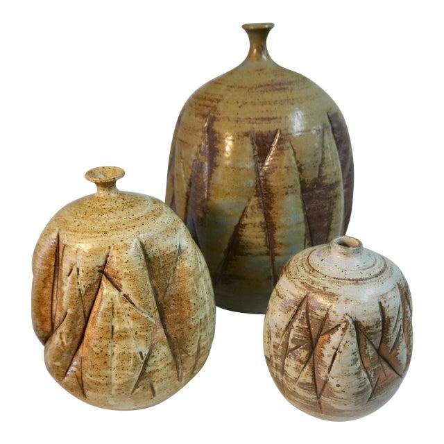 Tim Keenan Ceramic Vessels - Set of 3 For Sale