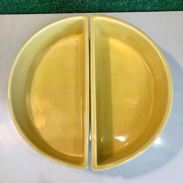Yellow Ikebana Planters, Pair For Sale - Image 4 of 8