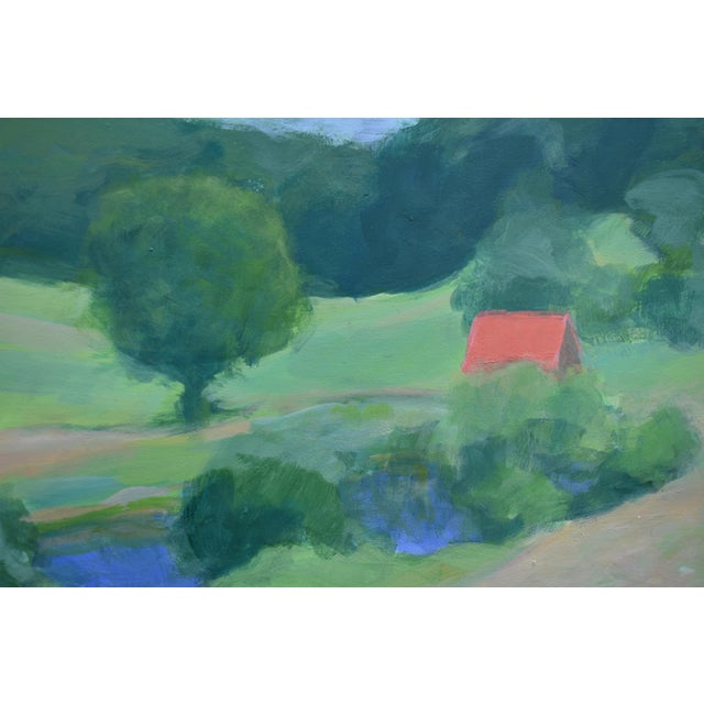 Green Pastoral Plein Air Contemporary Paintings by Stephen Remick - Set of 3 For Sale - Image 8 of 13