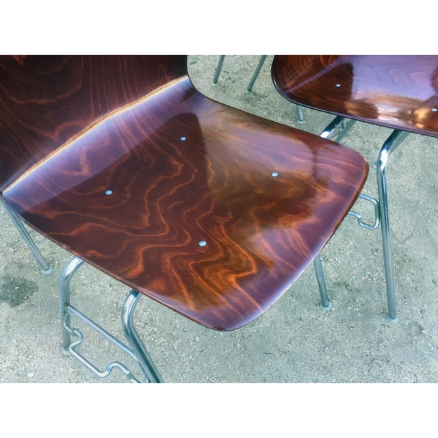 Vintage Royal Pagholz Bent Plywood Stacking Chairs- a Pair For Sale In Los Angeles - Image 6 of 7