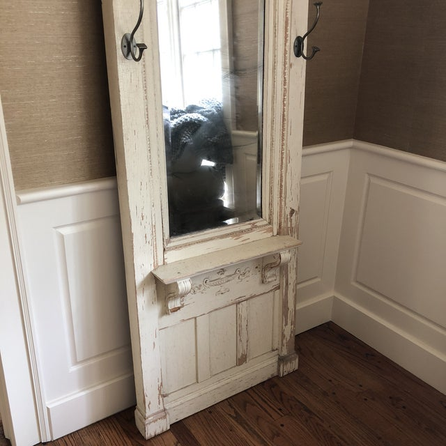 Early 20th Century Antique Wood Floor Mirror For Sale - Image 4 of 8