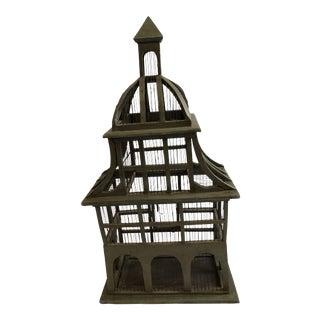 1970s Vintage Wooden Birdcage For Sale