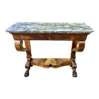 French Empire Mahogany Pier Table - Early 19th Century For Sale