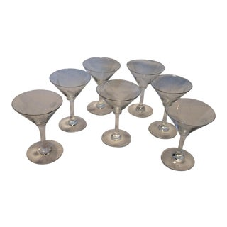 7 Vintage Noritaki Sasaki Wheat Martini Style Aperitif Glasses For Sale
