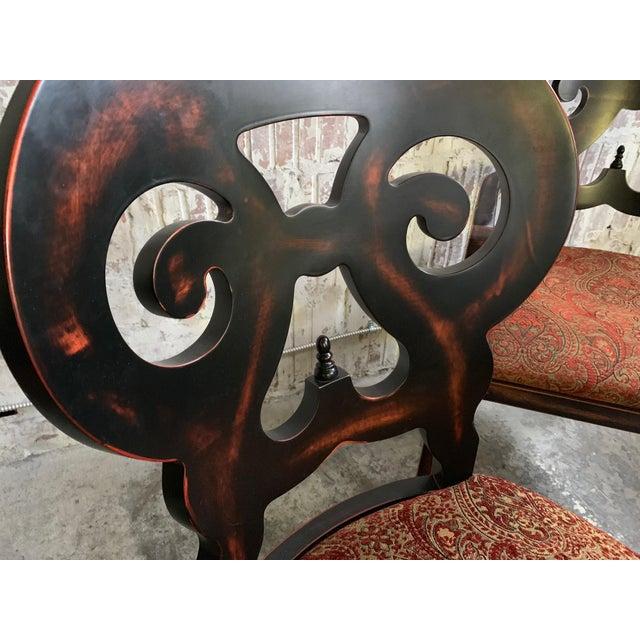 "Brown Set of Six Arhaus ""Jordan"" Dining Chairs For Sale - Image 8 of 13"