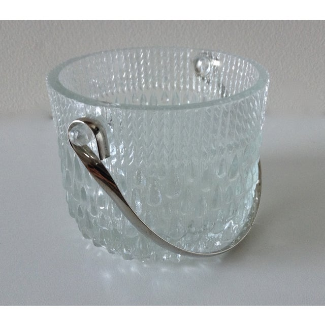 Contemporary Mid-Century French Glass Teardrop Ice Bucket For Sale - Image 3 of 6